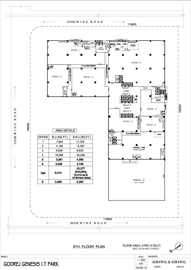 Aashiana Diagram 3 Sixth Floor Layout 6th